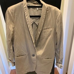 Free people tan blazer